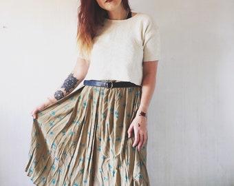 Vintage floral summer skirt 38/M size