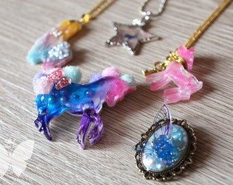 Pin resin unicorn cat steampunk