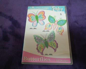 Anita Goodesign Baby Butterflies