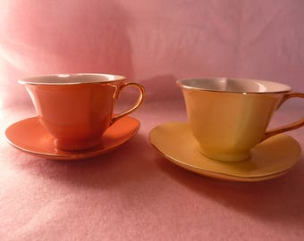 Valentine Heart Shaped cups and saucers, valentines day, coffee cups, tea cups, valentine gift