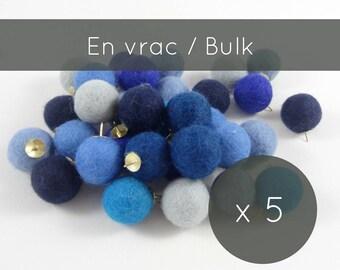 Thumbtacks 5/push pins/felt balls/pins/pompoms/cork board/office accessories/made in Canada/back to school/professor gift/university/Quebec