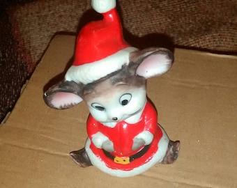Vintage Christmas Mouse