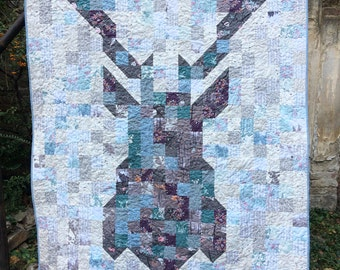 PDF pattern Instant Download DEAR DEER modern quilt by Katarina Roccella featuring Blithe fabrics