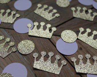 Princess confetti 50 pcs   Pink gold confetti   Princess baby shower decorations   Princess birthday confetti   Gold glitter table confetti