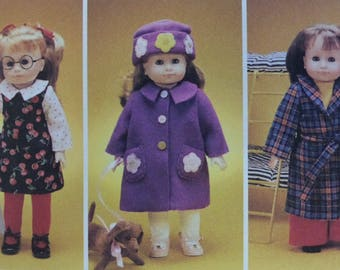 18 INCH DOLL CLOTHES Pattern • McCalls 2506 • Doll Wardrobe • Doll Overalls • Doll Coat • Sewing Patterns • Craft Patterns • WhiletheCatNaps