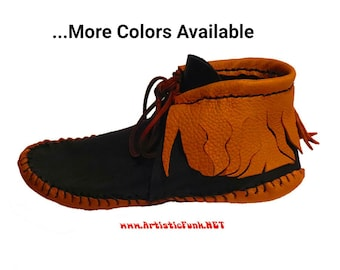 Hippie Shoes Festival Shoes Bohemian Moccasins Fringed Inca Style Leather Moccasins Ankle Moccasins Women's Moccasins Fringed Moccasins Boho