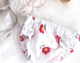 Baby Bloomers / Toddler Bloomers / Diaper Cover / Vintage Flower Print / Daisy Bloomer