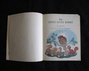 Lively Little Rabbit - Vintage 1943 Children's Book