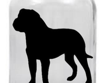Bullmastiff Mason Jar