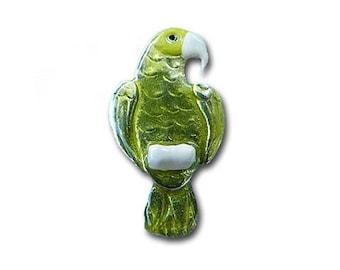 Enamel Green Amazon Parrot Pin