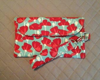 Desert poppies smartphone wallet