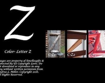 """Alphabet Letter {Z} Art Photography~ 4x6 """"Color"""" Digital Print"""