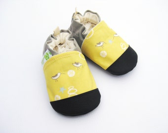 Organic Vegan Sandpiper / non-slip soft sole baby shoes / made to order / babies toddlers preschool