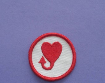 Devilish Heart NOS Vintage 1970s Patch