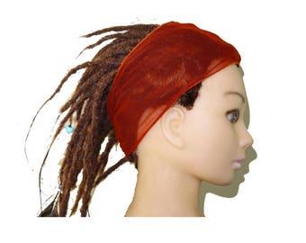Rusty orange adult headband bohemian.