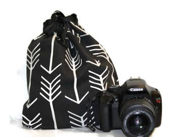 dSLR camera Drop in Bag Pouch  Gift for Photographer NiKon CaNon Sony