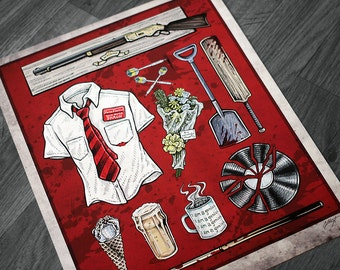 Shaun of the Dead Movie Poster - Signed Archival Giclee Print