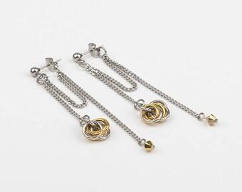 Stainless steel and Swarovski crystal earrings