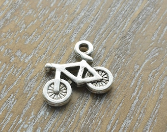 Bicycle pendant etsy silver bicycle charms silver charms bicycle charms cycling charms cycling pendant aloadofball Image collections