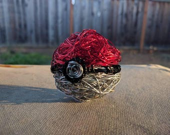 Wire Pokeball Sculpture