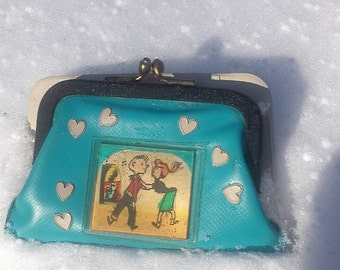 RocknRoll  Movement cartoon Coin Purse with Valentine Hearts