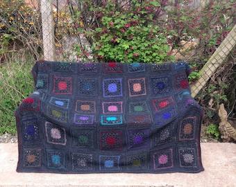 Large Sofa Throw/Single Blanket. Chunky Mohair Crochet. Vintage Mohair.