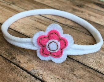 Baby Headband ~ Flower Headband ~ Newborn Girl Coming Home Outfit ~ Headbands for Girls ~ Floral Headband ~ Headbands ~ Newborn Photo Prop ~
