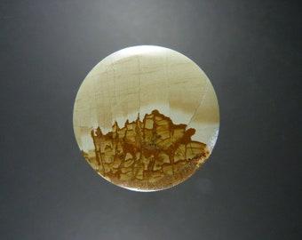 Ruin Marble Round Cabochon