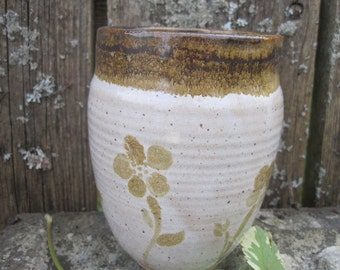 Wildwood Vase by Sweetpea Cottage Pottery cream and brown