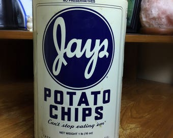 Jays Potato Chips can from 1986