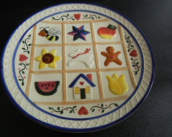Country Cookie Plate
