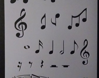 Music Musical Notes Custom Stencil FAST FREE SHIPPING