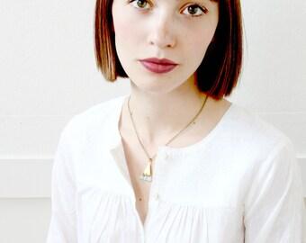 Jade Necklace, Jade Pendant necklace, Jade gemstone necklace, Triangle necklace, Minimalist necklace, Simple necklace, Modern necklace