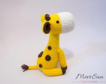 Crochet PATTERN  PDF - Amigurumi Giraffe - crochet giraffe, amigurumi plush, crochet animal, amigurumi toy, softie