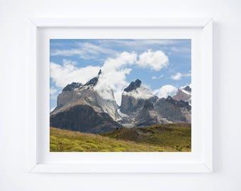 Patagonia photo print - Mountain landscape photography - Chile nature art print - Modern travel decor - Large wall art - 16x20 20x24