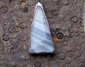 Grey Glass Fragment Necklace-Free Shipping in Cont. US!!