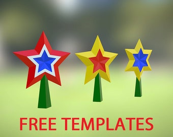 Free Printable Christmas Tree Toppers, Free Templates - Link in description