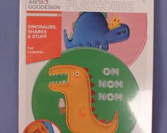 Anita's Playhouse Anita Goodesign Dinosaurs Sharks & Stuff Embroidery Designs