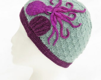 Octopus in the Shallows Beanie Knitting Pattern