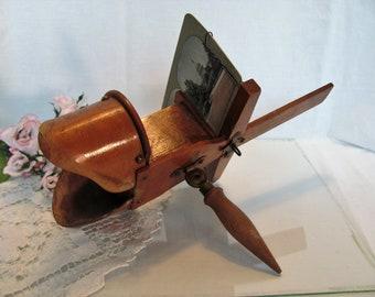 Antique Stereoscope / Paragon Wood Stereoscope / 1895