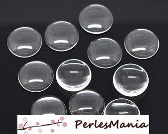 Special offer: 30 glass cabochons transparent 20mm