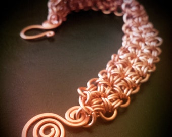 Inspirals Handcrafted Copper Chainmaille Bracelet