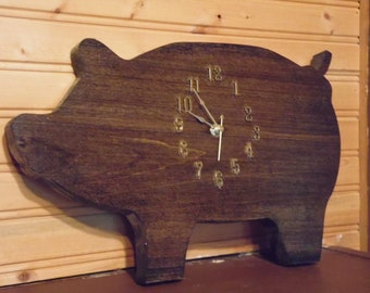 Pig Clock, kitchen, kids room