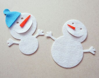 Felt Snowmen, Christmas ornaments, Felt Snowmen, make your own Christmas ornaments, felt supplies, Scrapbook Embellishments, Craft supplies