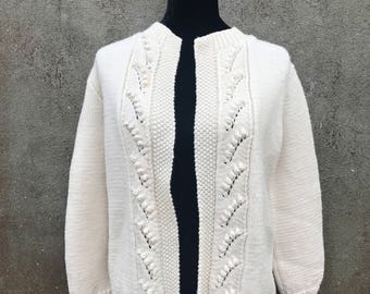 Vintage Cardigan Cotton and Wool