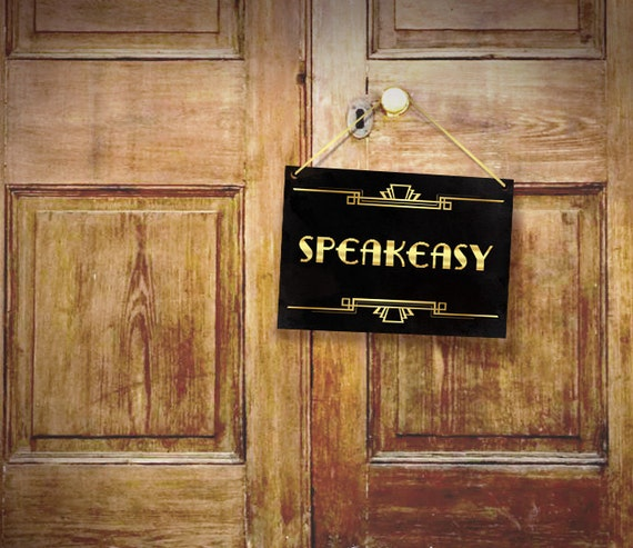Speakeasy Party Decor Art Deco Poster Prohibition Era Party
