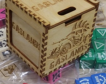 Gaslands dice counters and templates set