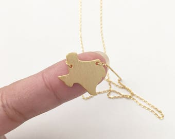 """Texas State Map 16"""" Chain Dainty Necklace"""