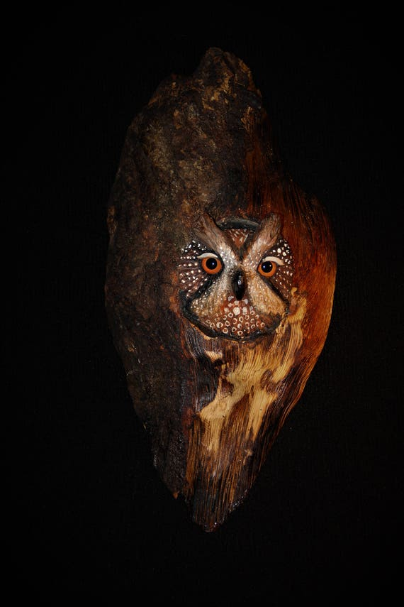 Wood Carving -Bird Carving - OOAK -  Hand Carved and Sculpted in Walnut Bark