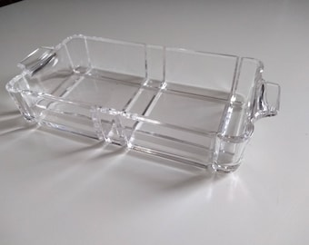 Vintage glass butter dish.